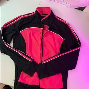 Athletic hot pink and black jacket quick dri
